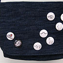 Set Of Four Button Badges In Three Designs