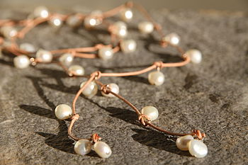 Pearl Leather Lariat