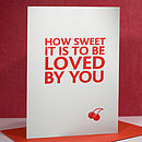 'How Sweet' Letterpress Valentine's Card