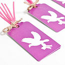 Love Birds Fuchsia Wrapping Paper Set