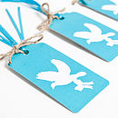 Recycled Love Birds Aqua Gift Wrap Set