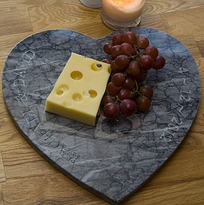 Personalised Heart Marble Board - gifts for couples