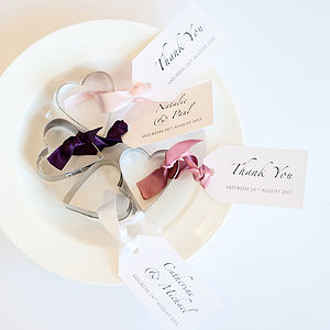 Heart Cookie Cutter Wedding Favours - unusual favours