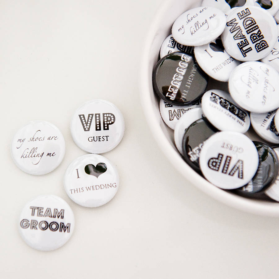 pack of 50 wedding favour badges by twenty-seven ...