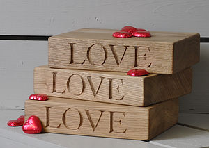 Oak 'Love' Boards