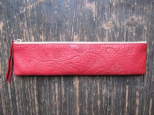 Ruby Leather Case - pencil cases