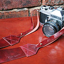 Marbled Ruby Camera Strap