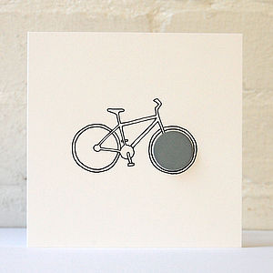 Bicycle Card With Reflective Badge