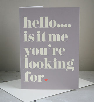 Personalised Your Song Card