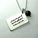 Love Letter In Morse Code Charm