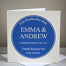 Personalised Heritage Plaque Card