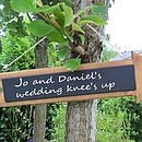 Wooden Wedding Arrow Chalkboard Sign
