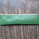 Green Leather Case