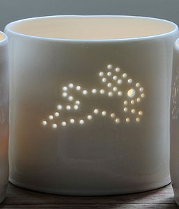 Porcelain Bunny Tea Light