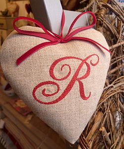 Red Monogrammed Heart - decorative accessories