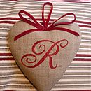 Red Monogrammed Heart