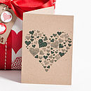 Recycled Rustic Forest Heart Greetings Card
