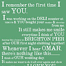 Our Story Personalised Print