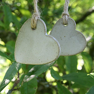 Stoneware Heart Decoration - home accessories