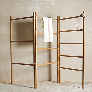 Handmade Wooden Clothes Horse - stands, rails & hanging space