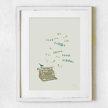 'Live Learn Love' Print