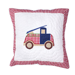 Fire Trucks Cushion