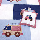 Thumb fire trucks quilt