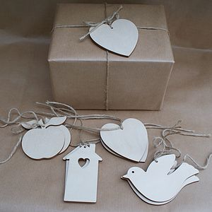 Birch Wood Gift Tag Or Place Name