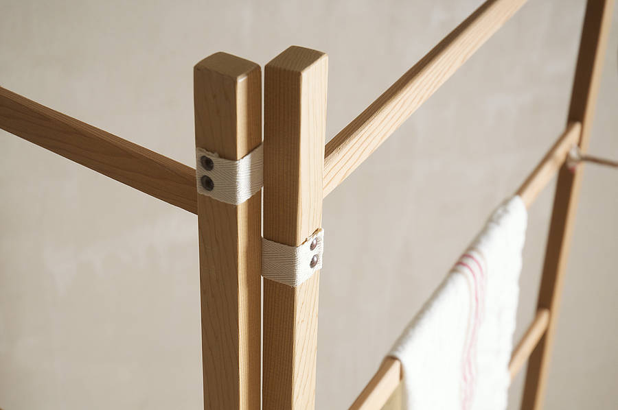 Handmade Wooden Clothes Horse By Devol Home Accessories