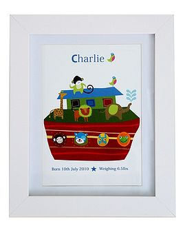 Personalised Boy's Boat Birth/Name Print