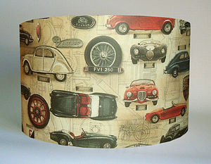 Vintage Cars Lampshade - lamp bases & shades