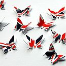 Union Jack 3D Butterfly Table Confetti