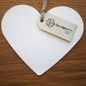 Heart Shaped Gift Tags - ribbon & wrap