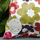 Oily Rag Retro Hot Flower Outdoor Cushion