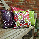 Oily Rag Retro Hot Flower Outdoor Cushion