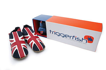 Mens Leather Union Jack Shoes , Slippers