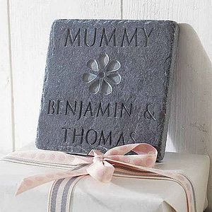 Personalised Mum's Flower Slate - inspired by family