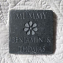 Personalised Mum's Flower Slate