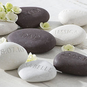 Personalised Engraved Stones - wedding favours
