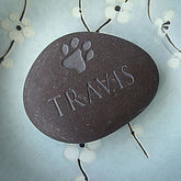 Personalised Pet Pebble With A Pawprint - pets