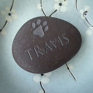 Personalised Pet Pebble With A Pawprint - pet-lover