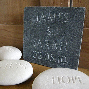 Personalised Wedding Gift Slate - room decorations