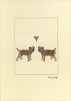 Border terriers in love