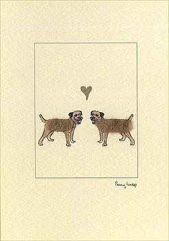 Border terriers in love