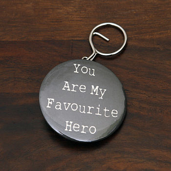 Personalised Hero Bottle Opener Keyring