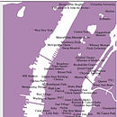 Stitch A Map Postcard: Manhattan