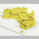 Stitch A Map Postcard: Australia