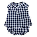 French Designed Checkered Baby Set