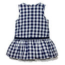 French Design Checkered Dress
