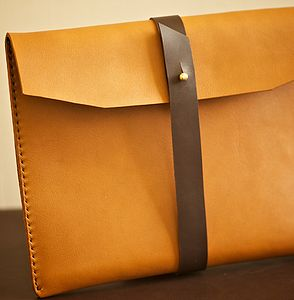 Handmade Leather Case For Ipad - bags & cases
